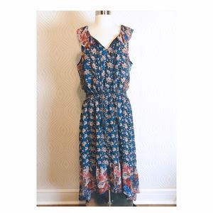 I Heart Ronson Floral Hi-Lo Dress, size XL